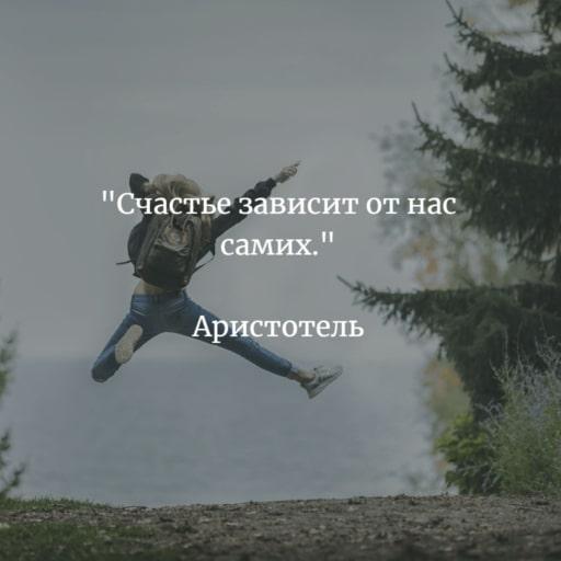Аристотель цитата про счастье