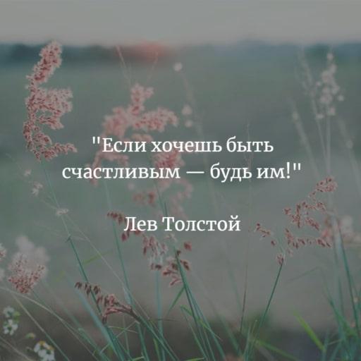 Высказывание Льва Толстого о счастье